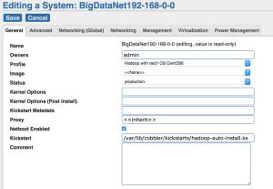 Cobbler System Profile for Network Default